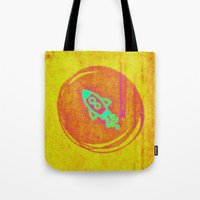 rocket Tote Bags featuring  * Rocket * by Mr and Mrs Quirynen