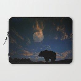 Bear and Moon Laptop Sleeve