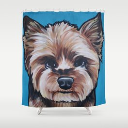 Herman the Yorkshire Terrier Shower Curtain