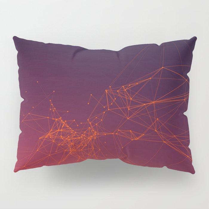Sunset gradient connection Pillow Sham