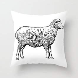sheep  Throw Pillow