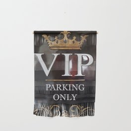 VIP- gold on black Wall Hanging