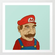 Mario Before He Eats a Mushroom Art Print