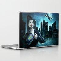 super heroes Laptop & iPad Skins featuring Heroes by Nessendyl