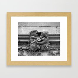 Musician Gargoyle, University of Chicago 2009 Framed Art Print