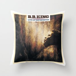 BB King Live At San Quentin CD Cover Throw Pillow