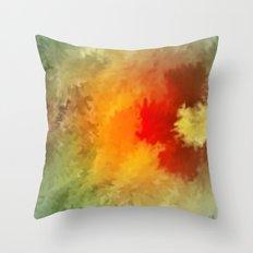 Summer floral wallpapaer. Throw Pillow