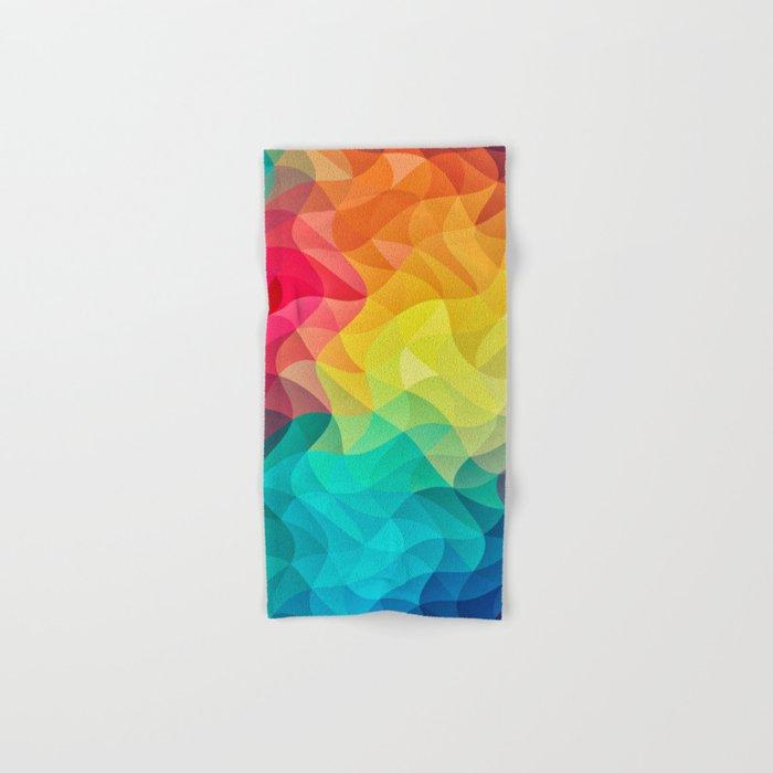 Abstract Color Wave Flash Hand & Bath Towel