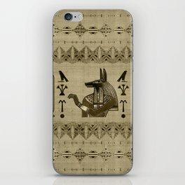 Egyptian Anubis Ornament iPhone Skin