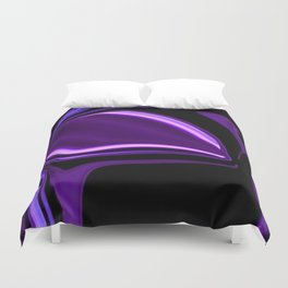 purple tropical flower abstract digital painting Duvet Cover