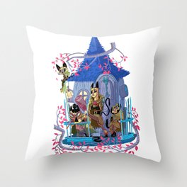 The Gang is All Here! Throw Pillow