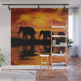 Elephant Safari Wall Mural