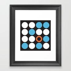Modern Abstract Dots Framed Art Print