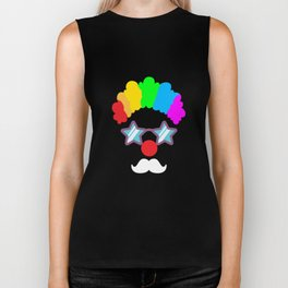 Clown Circus Carnival Birthday Party Apparel Biker Tank
