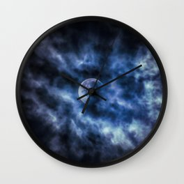 Clouded Moon Wall Clock