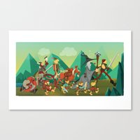 the lord of the rings Canvas Prints featuring Lord Of The Rings by O'Banion Art