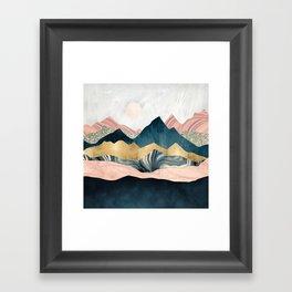 Plush Peaks Framed Art Print