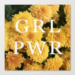 Girl Power - Yellow Flowers Canvas Print