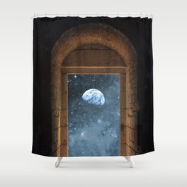 DOOR TO THE UNIVERSE Shower Curtain