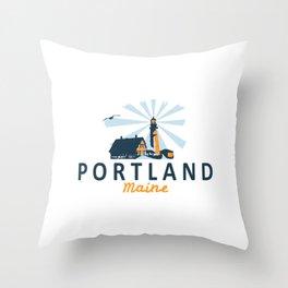 Portland Maine. Throw Pillow