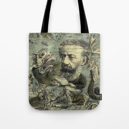 Vintage Jules Verne Periodical Cover Tote Bag