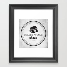 Phillips Avenue Plaza Framed Art Print