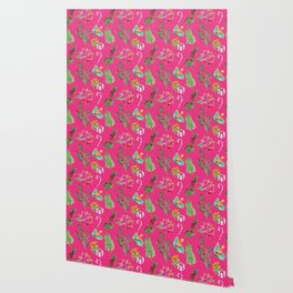 Australian Native Floral Christmas Pattern Wallpaper
