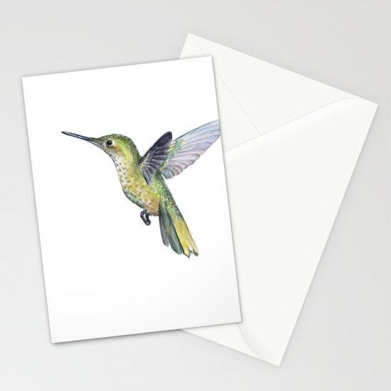 Hummingbird watercolor bird animal stationery cards by olechka hummingbird watercolor bird animal stationery cards by olechka society6 m4hsunfo