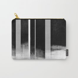 Black and White Retro Style Geometric Abstract - Codex Carry-All Pouch