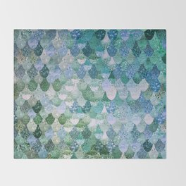 REALLY MERMAID OCEAN LOVE Throw Blanket