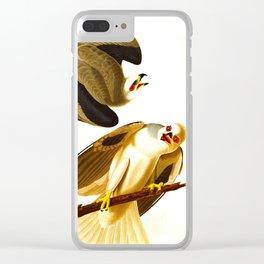 Black Winged Hawk Illustration Clear iPhone Case