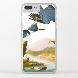 Belted Kingfisher Bird Clear iPhone Case