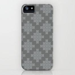 Pixels, Grey iPhone Case