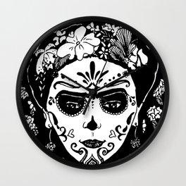 Sugar Skull Wall Clock