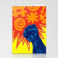 superheroes Stationery Cards featuring Superheroes SF by Nick Volkert