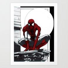 Spiderman Noir (Alt. Version) Art Print