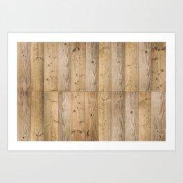 Wood Planks Light Art Print