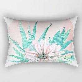Desert Cactus Succulent Rectangular Pillow