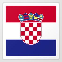 Croatia flag emblem Art Print