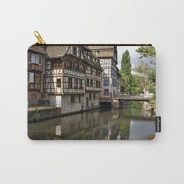 France Photography - Medieval Houses By The River In Strasbourg Carry-All Pouch