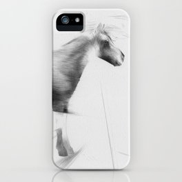 Horse and Starling (bird) iPhone Case