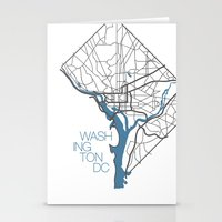 washington dc Stationery Cards featuring Washington, DC by linnydrez