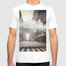 Under a Cloud II White MEDIUM Mens Fitted Tee