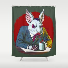 Count Fluffington, Certified Public Accountant, At Your Service Shower Curtain