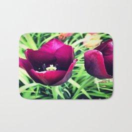 Purple Tulips in Bloom Bath Mat