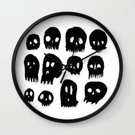 Spooky Skulls Wall Clock