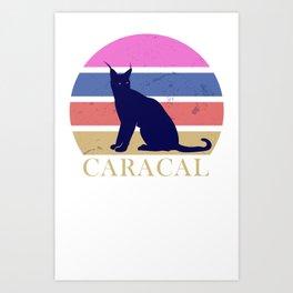 Caracal Vintage Design Art Print