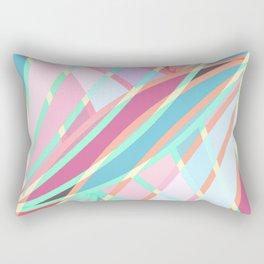 Girly Modern Abstract Geometric Pattern Rectangular Pillow