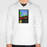 bible verses Hoodies featuring 8-bit Bible by Jim Lockey