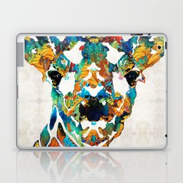 Colorful Giraffe Art - Curious - By Sharon Cummings Laptop & iPad Skin